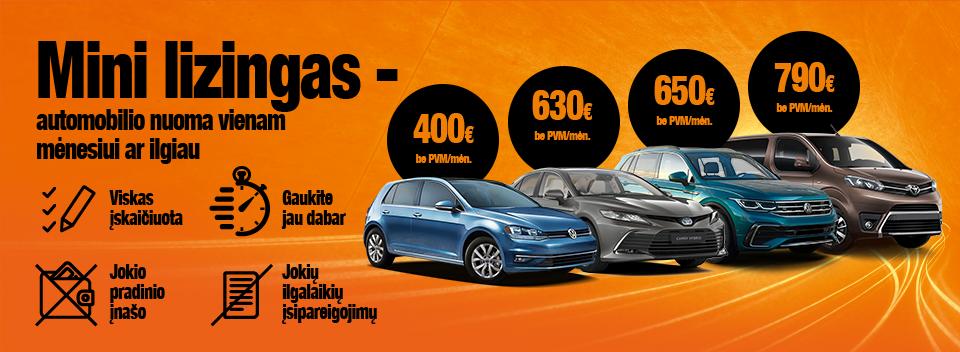 Mini lizingas – automobilio nuoma vienam mėnesiui ar ilgiau