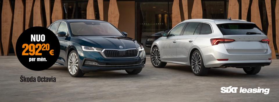 Škoda Octavia automobilių veiklos nuoma su visa priežiūra - SIXT Leasing