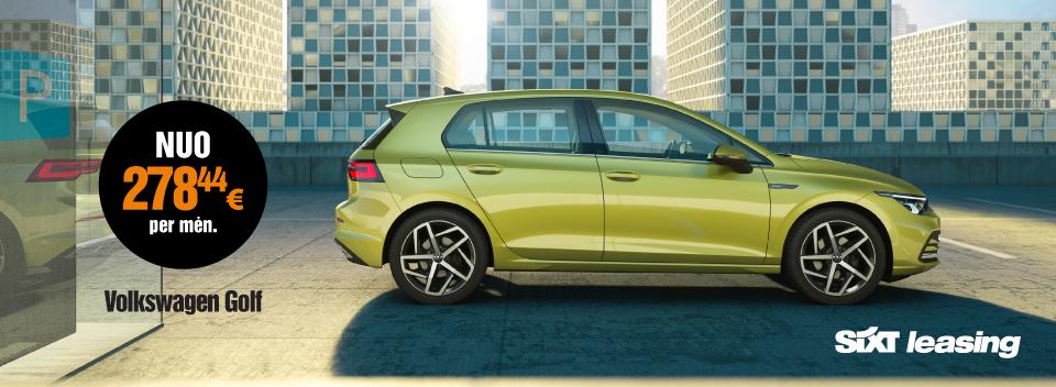 VW Golf automobilių veiklos nuoma su visa priežiūra - SIXT Leasing