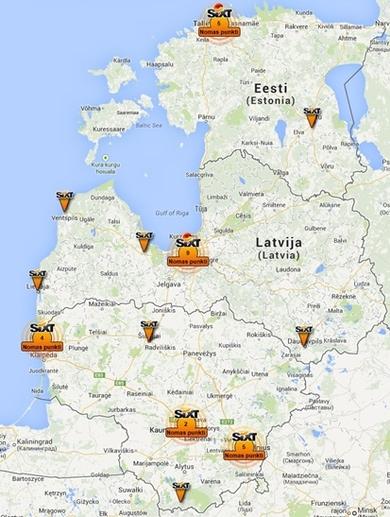 Skaičiai ir faktai apie SIXT RENT A CAR ir SIXT LEASING Baltijos šalyse