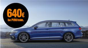 Automobilio VW Passat mini lizingas su VISKAS ĮSKAIČIUOTA