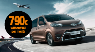 Toyota Proace with no down payment